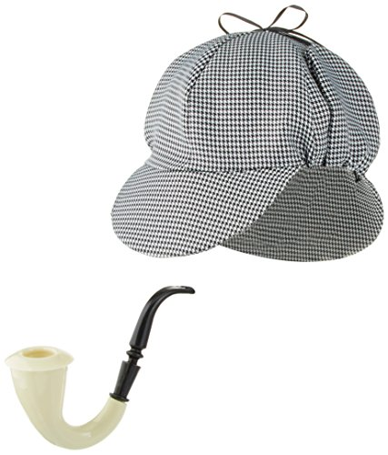 Sherlock Holmes Houndstooth Detective Sleuth Hat With Costume (Sherlock Holmes Costume Robert Downey Jr)