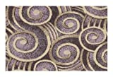 Wound Up Swirl Plum Purple - 6'x9' Custom Stainmaster Premium Nylon Carpet Area Rug ~ Bound Finished Edges