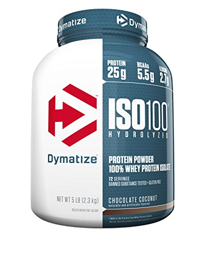 Dymatize Iso 100, Chocolate Coconut, 5 Pound