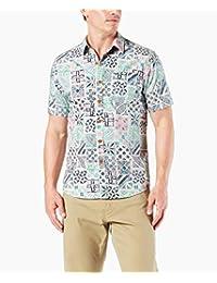 Dockers New Short Sleeve Resort Camisa Casual para Hombre