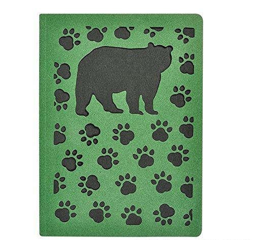 80pg JOURNAL WITH BEAR DIE CUT, Case of 48