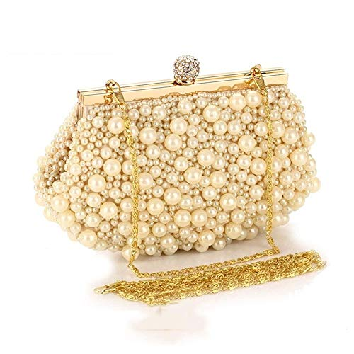 Oro per le Maybesky oro Girl con Borse colore Vintage Honor Lady Party perline Bag donne Evening ZwITqA