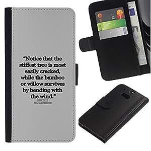 WonderWall ( No Para HTC ONE Mini 2) Fondo De Pantalla Imagen Diseño Cuero Voltear Ranura Tarjeta Funda Carcasa Cover Skin Case Tapa Para HTC One M8 - cita inspiradora carta texto verdad