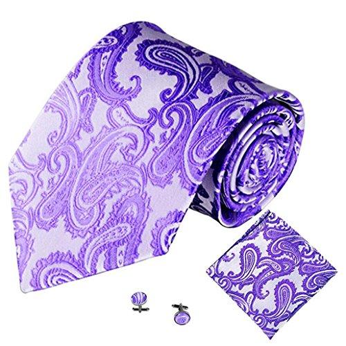 Pocket Multiple Men Tie Handkerchief color Colours Square Cuff K Jacquard Solid Party 3PCS Wawer Classic Link p8qOaSS