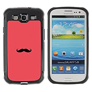 "Pulsar iFace Series Tpu silicona Carcasa Funda Case para Samsung Galaxy S3 III I9300 , Bigote del manillar Hipster Peach"""