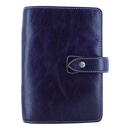 Filofax 2019 Personal Malden Organizer, Leather, Purple, Paper Size 6.75 x 3.75 inches (C025850-19)