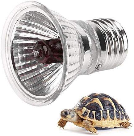Haofy E27 Bombilla de Calefacción para Reptiles, UVA UVB Lámpara de Luz Solar de Espectro Completo Toma el Sol Lámpara de Calor para Reptiles Serpiente Tortuga Mascota(50W)