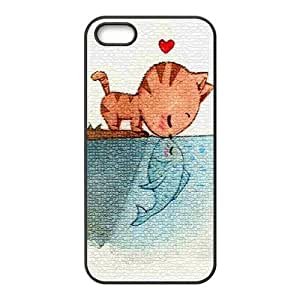 Case For Sony Xperia Z2 D6502 D6503 D6543 L50t L50u Cover S Protective Case - Cat in Love with Fish Hardshell Carrying for Case For Sony Xperia Z2 D6502 D6503 D6543 L50t L50u Cover