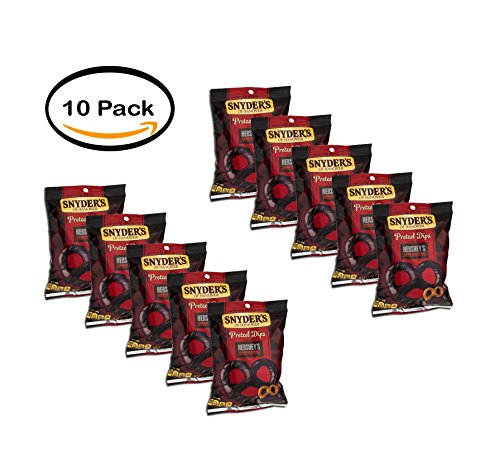 PACK OF 10 - Snyder's of Hanover Hershey's Special Dark Chocolate Pretzel Dips, 6 oz