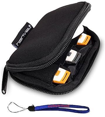 Nylon Fabric Storage Holder/Wallet/Case/Bag/Organizer for USB Flash Drives/Thumb Drives/Pen Drives/Jump Drives W/ Everything But Stromboli (tm) Lanyard by HanveL & Everything But Stromboli