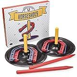 Crown Sporting Goods Deluxe Indoor and Outdoor Horseshoe Game Set