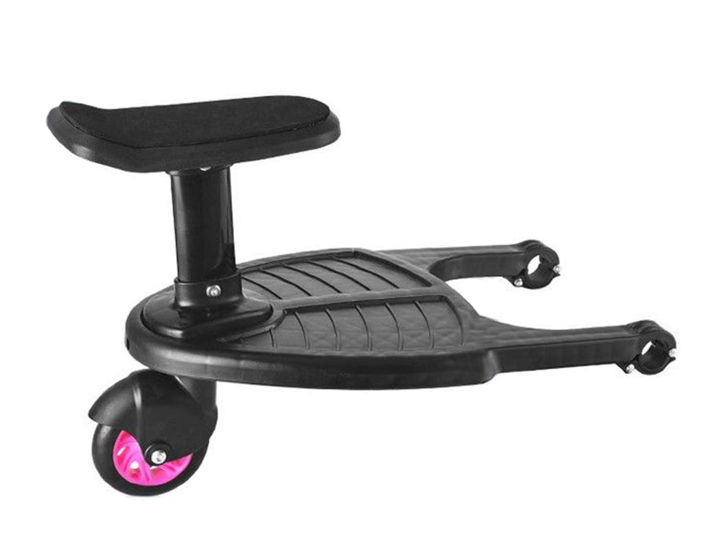 DGDG Buggy Board,Auxiliary Universal Pedal Baby Stroller Accessories Compatibility Up to 99% Pink Wheels, Black