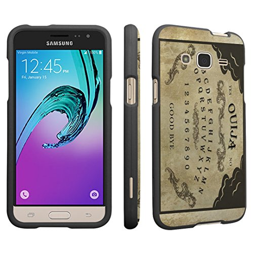 [Galaxy J3 Case, DuroCase ® Hard Case Black for Samsung Galaxy J3 SM-J320 (Released in 2016) - (Ouija] (Customs For Halloween Ideas)