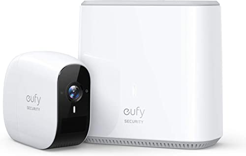 eufy Security, eufyCam E Wireless Home Security Camera System, 365-Day Battery Life, HD 1080p, IP65 Weatherproof, Night Vision, Compatible with Amazon Alexa, 1-Cam Kit, No Monthly Fee