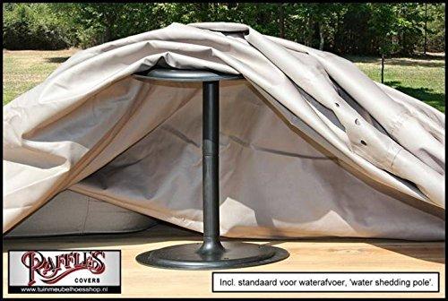 Raffles Covers RT95 Schutzhülle für quadratischen Tisch 95 95 95 x 95 cm Schutzhülle für rechteckigen Gartentisch, Abdeckhaube für Gartentisch, Gartenmöbel Abdeckung 896b63