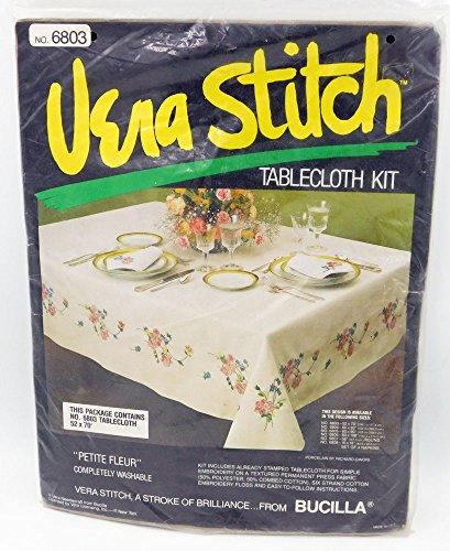 Rare Bucilla VERA STITCH Tablecloth Kit 6803