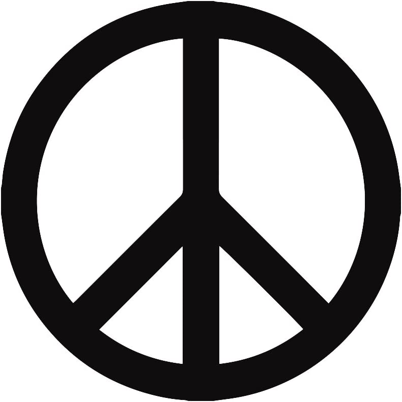 Peace Sign Car Decal / Sticker - Black