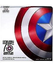 PRETAY Hasbro Marvel Legends Series Captain America Shield, Movie 75th Anniversary Collector Edition Amerika Rekwisieten voor heren Cosplay Shield Avengers 4 Speelgoed Luchtvaart Legering 1 tot 1