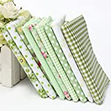 Green Series 9 Assorted Printed Cotton Quilting Fabric Set
