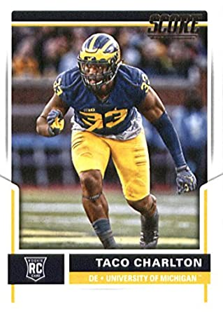 2017 Score  432 Taco Charlton Michigan Wolverines Rookie Football Card Dallas  Cowboys 1st Round Pick 45dab6c64