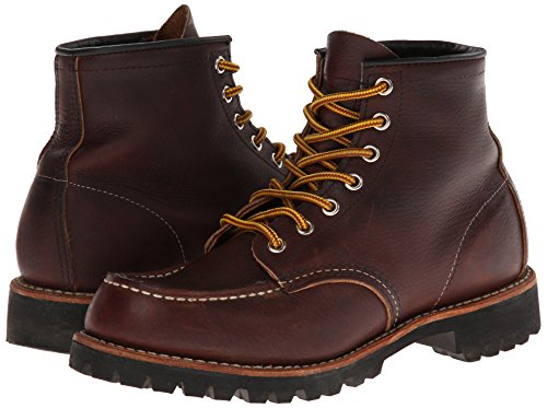 Red Wing Heritage Men's Six-Inch Moc Toe Lug Boot,Brown,12 D US by Red Wing (Image #6)