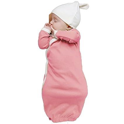 Auntwhale Cómodo color sólido Batas de bebé para niños pequeños Sleeper Bag Sleep Sleeves Sleeper Manga