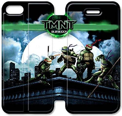 Klreng Walatina® Coque iPhone 6 6s 4,7 pouces Coque cuir Teenage Mutant Ninja Turtles Film Ipod O7X6Ah