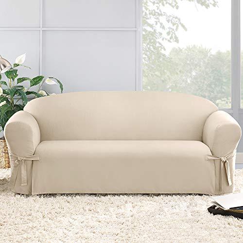 Sure Fit Cotton - Sofa Natural , 72