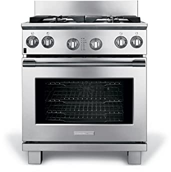 electrolux gas range. electrolux icon e30df74gps professional 30\u0026quot; stainless steel dual fuel sealed burner range - convection gas w
