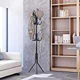 LANGRIA Standing Entryway Coat Rack Coat Tree Hat