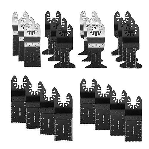 20PCS Wood/Bi-Metal Universal Oscillating Multitool Quick Release Saw Blades, Oscillating Tool Blades Fit For Fein Multimaster Dewal Porter Rockwell Cable Black & Decker Bosch Craftsman Dremel