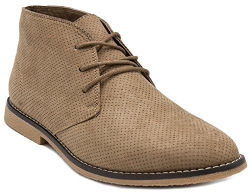 London Fog Mens Broadstreet Chukka Boot Beige PERF 12 M US