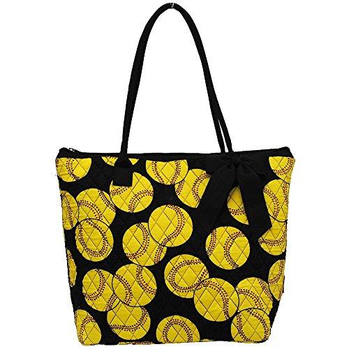 Softball Print NGIL Quilted Tote Bag