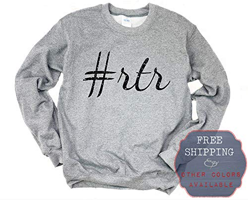 his & her threads Roll Tide Roll Alabama Football Graphic Long Sleeve Printed Sweatshirt Shirt [Ash] [L] ()