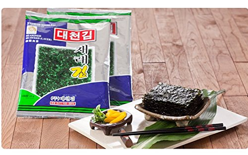 Daecheon Korean Roasted Seaweed Snack Strips, Lightly Salted and Seasoned Nori [100% All Natural] (Pack of 10) by Daecheon (Image #3)