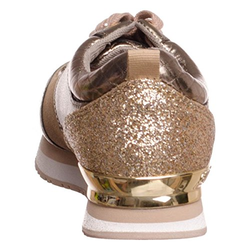 Gold leather sneaker Guess golden RIMMA fa5fWIq