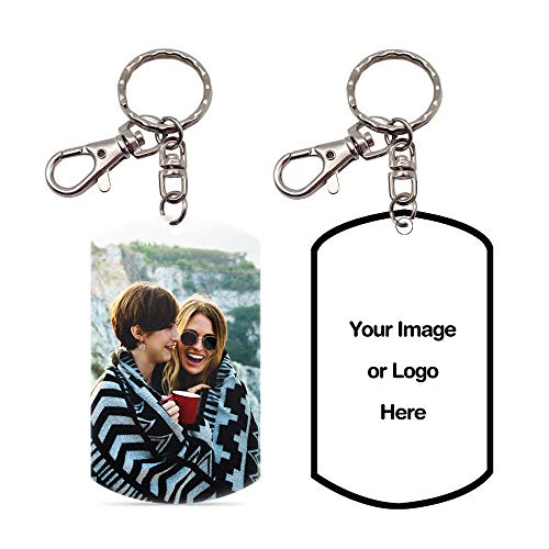Pearl Pix Custom Key Chain, Personalized Photo Key Chain, Double Side, 1.8