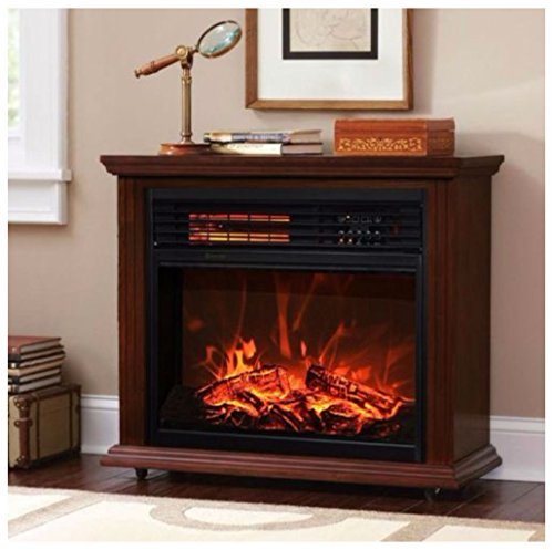 Cheap Large Room Electric Quartz Infrared Fireplace Heater Deluxe Mantel Oak / Walnut (DARK WALLNUT) Black Friday & Cyber Monday 2019