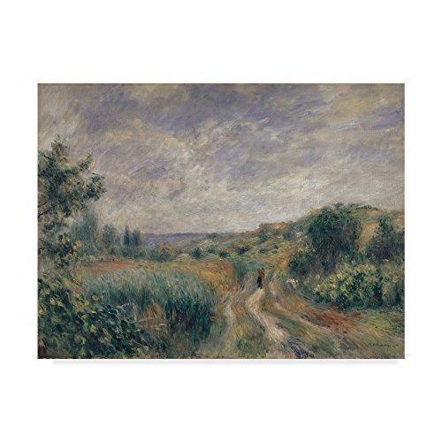 Landscape near Essoyes 1892  by Pierre Auguste Renoir, 24x32-Inch