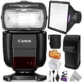Canon Speedlite 430EX III-RT Flash w/ Essential Photo Bundle - Includes: Altura Photo Flash Diffuser, Cleaning Set