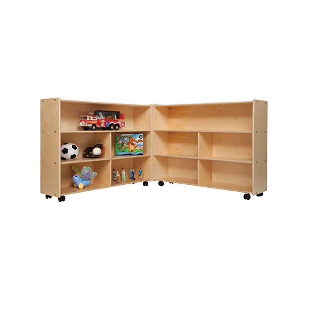 Contender Kids Home School Furniture C13730 Mobile Folding Versatile Storage Unit 35 1/2''H