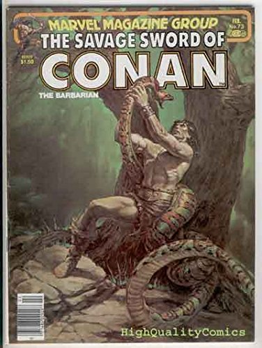 SAVAGE SWORD of CONAN #73, VF, Buscema, Pirates, Snake, more SSOC in store