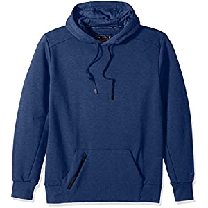 Russell Athletic Men's Cotton Rich Fleece Hoodie, Navy Heather, L