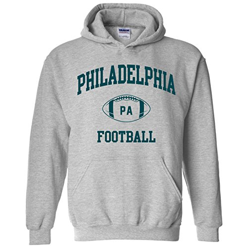 Philadelphia Classic Football Arch American Football Team Sports Hoodie - 2X-Large - Sport Grey