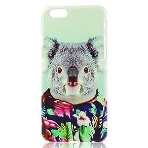 VCOER para iPhone 6 11,94 cm pulgadas con diseño de Koala para PC Funda Carcasa protectora Piel protectora Funda/Carcasa/Funda/Carcasa/iPod Touch