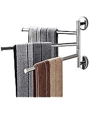 Towel Bars Holder Swing Towel Racks Towel Rack Holder Wall Mounted Towel Holder with Hooks Oil Rubbed Bar Swivel Hanger Swivel Towel Rack Towel Holder Swing Bar Rack Towel Bar Swivel Hanger