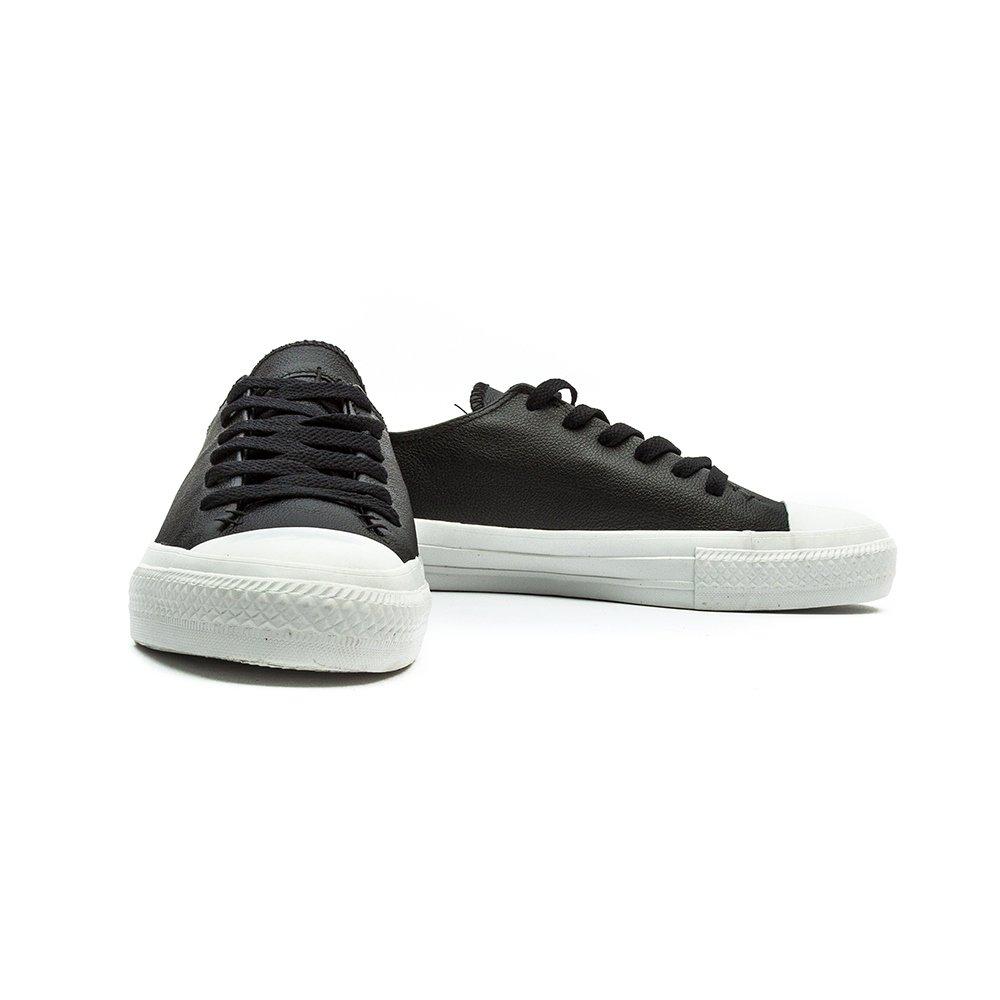 f1604dfd8c45 Converse New Unisex Black Leather Upper Upper Fashion Pumps - Black White -  UK Size 9  Amazon.co.uk  Shoes   Bags
