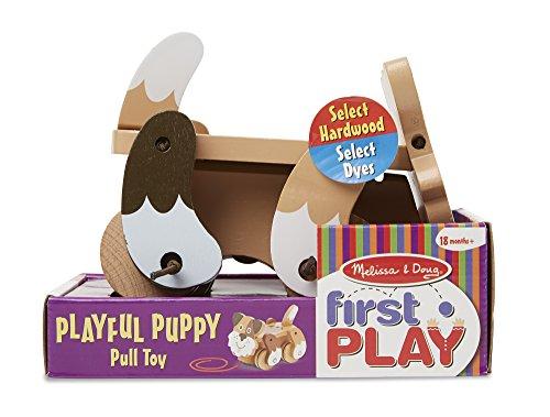 51F 99EIbxL - Melissa & Doug Playful Puppy Wooden Pull Toy for Beginner Walkers