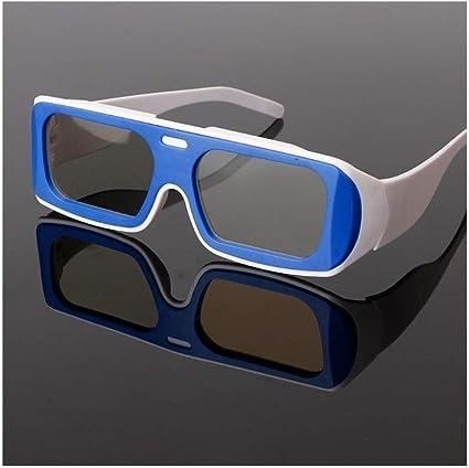 You will think of me Gafas 3D Doble Marco De Color Circular Polarizada Pasiva Gafas Estéreo 3D para Real D 3D TV Cinema (Color : BW): Amazon.es: Electrónica