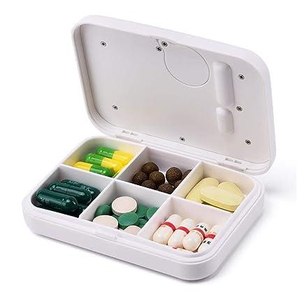 dispensador de píldoras temporizadas recordatorio alarma caja inteligente electrónica organizador holder portátil mini pastillas viaje contenedor